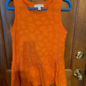 Michael Kors Orange Flowy Top